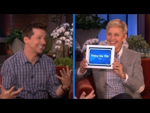 Sean Hayes And Ellen Play 'Heads Up!'