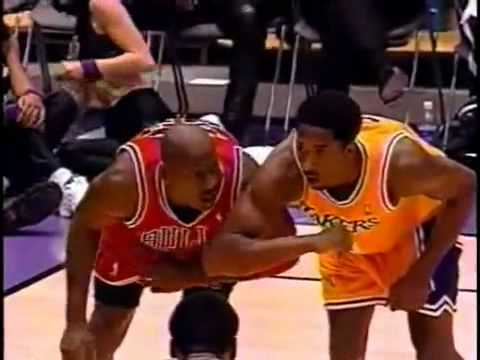 The real 1-2 punch: Kobe and Shaq show Pippen and Jordan how it