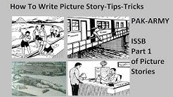 Picture Story || how to write a Picture story || Tips || tricks || PMA Journey || part 1