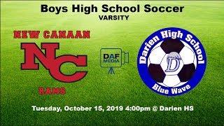 Darien Varsity Boys Soccer vs. New Canaan