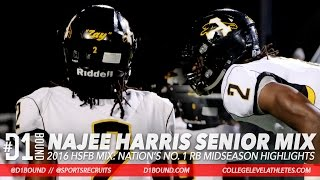 Najee Harris Senior Football Highlights: Nation