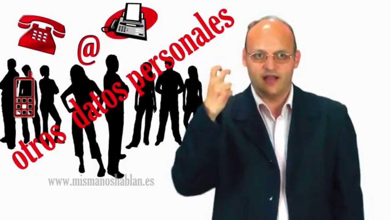 Datos personales OTROS - LENGUA DE SIGNOS ESPAÑOLA - LSE