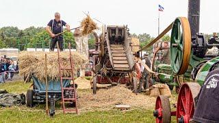 Historic Threshing Machine powered by Steam Engine