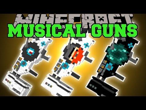 Minecraft: MUSICAL GUNS (DESTRUCTION FROM DUBSTEP!) Mod Showcase
