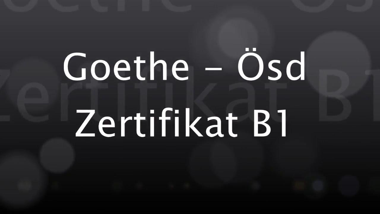 Deutsch Lernen Goethe ösd Zertifikat B1 Modul Hören Test 5