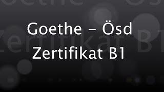 Deutsch lernen: Goethe / Ösd Zertifikat B1 - Modul Hören Test 5 / Teil 1