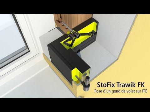 Pose d'un gond de volet sur ITE avec le StoFix Trawik FK