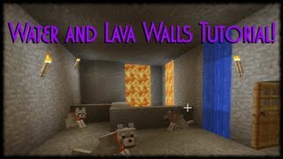 Minecraft Xbox 360 Tutorial How To Make Lava and Water Walls