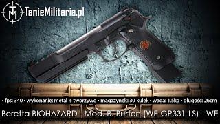 BERETTA BIOHAZARD - Mod. B. Burton (WE-GP331-LS) FIRMY WE  - TANIEMILITARIA.PL