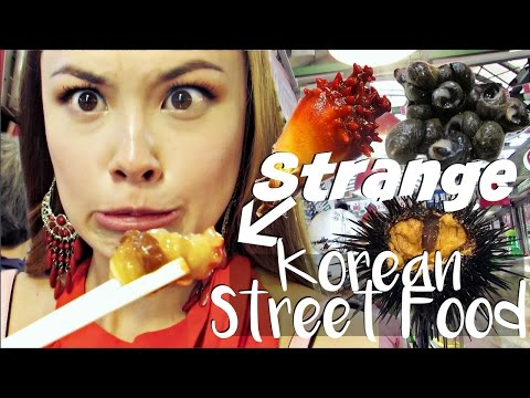 EATING WEIRD KOREAN STREET FOOD   The Seafood Edition!