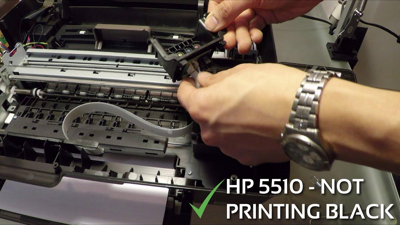 HP 5510 Wont Print Black And Colors