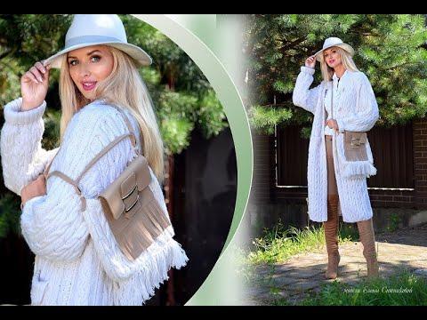 Кардиганы спицами и пальто