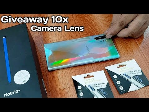 Samsung Note 10 plus Camera Lens Glass protector 10x Giveaway