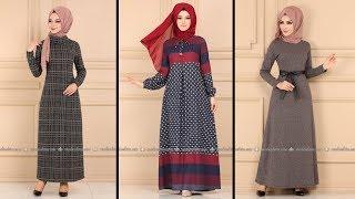 Modaselvim 2020 Kışlık Elbise Modelleri 4-34   2020 Kışlık Tesettür Elbise Modelleri