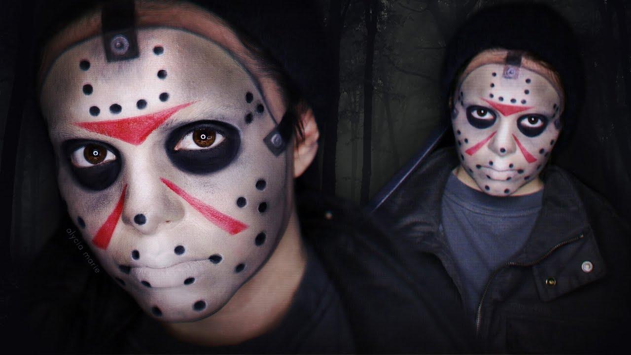 Jason Voorhees Makeup Tutorial Freitag Der 13 Youtube