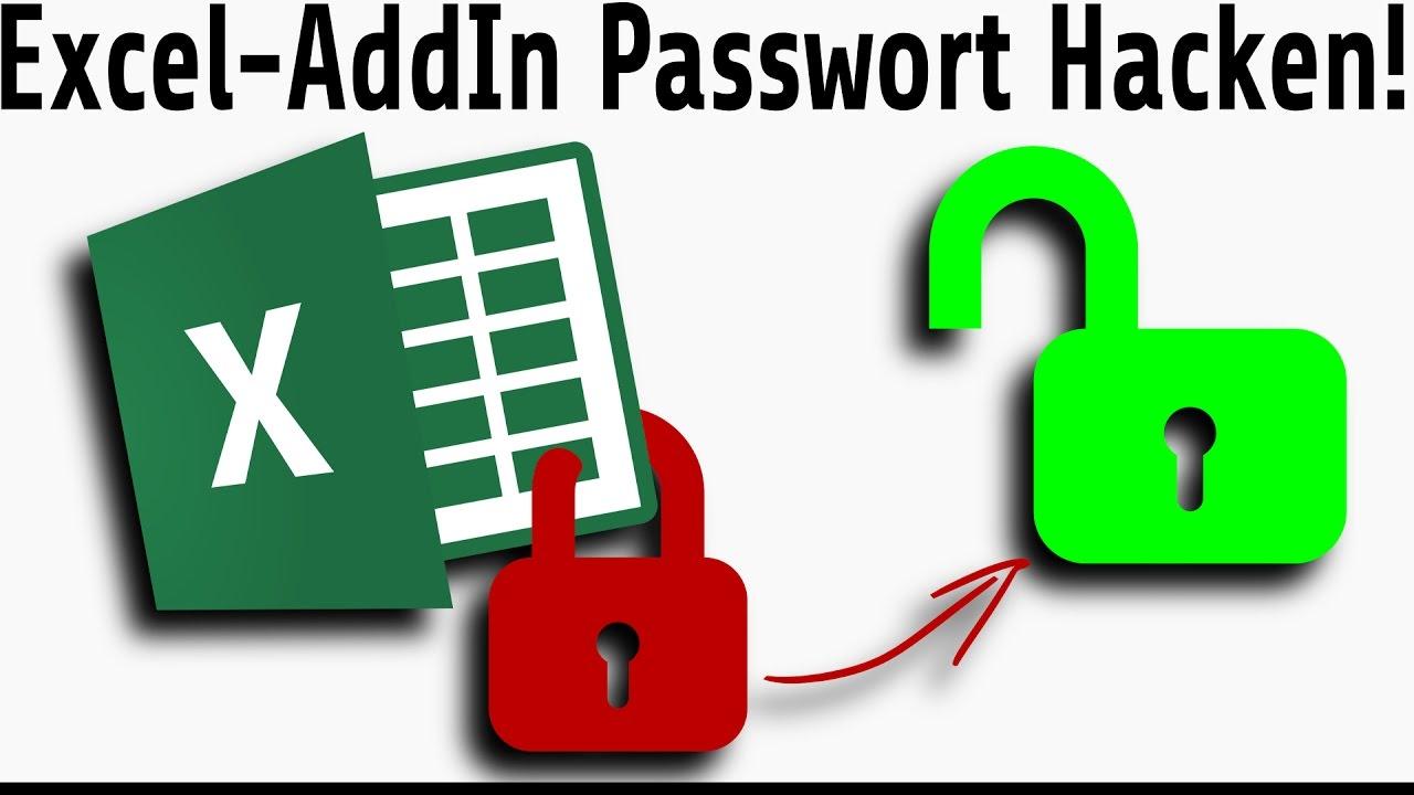 excel addin passwort l schen hd makro vba passwort hacken bzw entfernen youtube. Black Bedroom Furniture Sets. Home Design Ideas