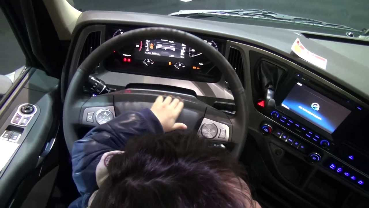 2013 new hyundai truck xcient interior design - YouTube