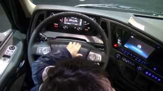 2013 new hyundai truck xcient interior design