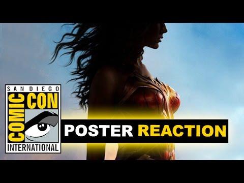 Wonder Woman Movie Poster Reaction - Comic Con 2016