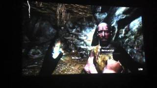 Skyrim Ultra with Realism Mods on 120 inch Projector Image
