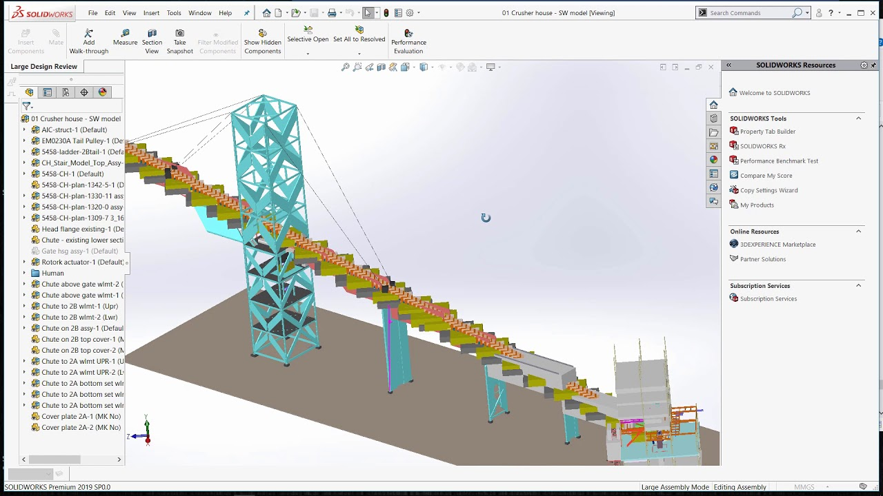 SOLIDWORKS 2019 - Large Design Review Mode