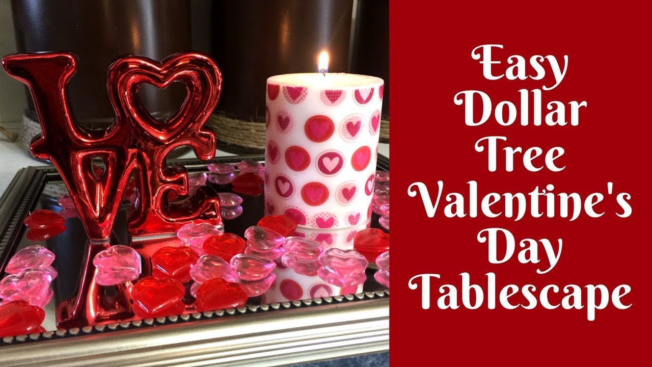 Dollar Tree Valentine S Day Crafts Easy Valentine S Day Tablescape
