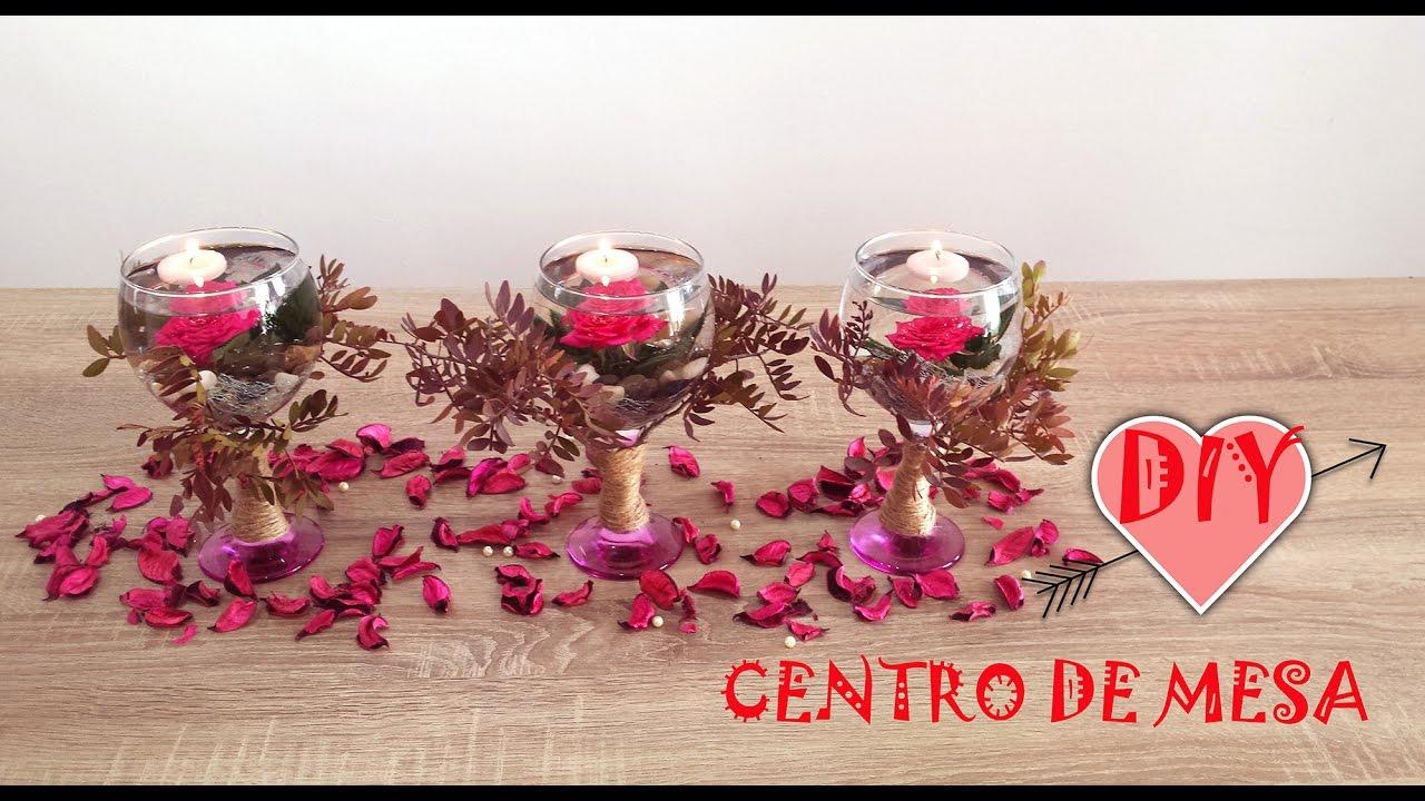 Centros de mesa copas con flores sumergidas y velas - Youtube centros de mesa navidenos ...