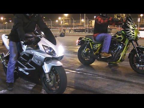 FXR vs R6 vs RoadGlide vs CBR600 F4I