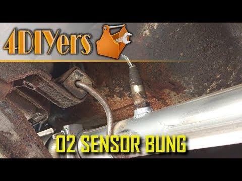 O2 Sensor Bung Set 18mm 45 Degree Weld In Exhaust Bung Motorcycle Harley Honda