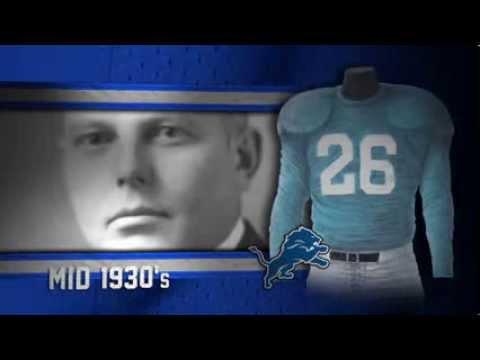 Detroit Lions uniform and uniform color history