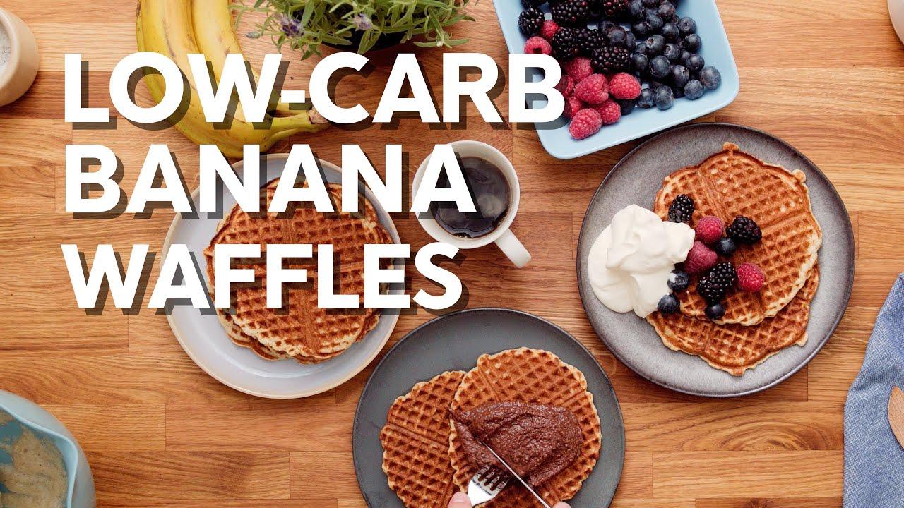 Low-carb banana waffles • Easy recipe!
