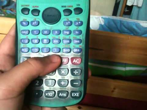 comment mettre une calculatrice casio fx-92 en mode degre