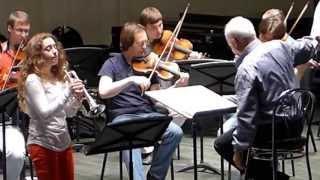 Lucienne Renaudin Vary, répétition avec Vladimir Spivakov et l'Orchestre des Virtuoses de Moscou