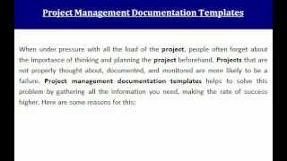 Project Management Documentation Templates