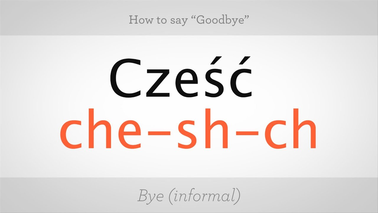 Goodbye - how to spell correctly