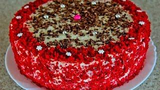 """ТОРТ """"КРАСНЫЙ БАРХАТ""""и КРЕМ-ЧИЗ, рецепт. Red velvet Cake"""