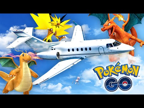 Pokemon GO - CATCHING POKEMON ON A PLANE!