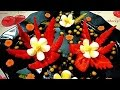 HOW TO MAKE PEPPER FLOWER - PEPPER GARNISH & VEGETABLE CARVING - ART IN PEPPER