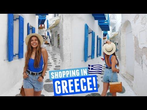 SHOPPING IN MYKONOS, GREECE   Mykonos Day 5!
