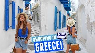 SHOPPING IN MYKONOS, GREECE | Mykonos Day 5!