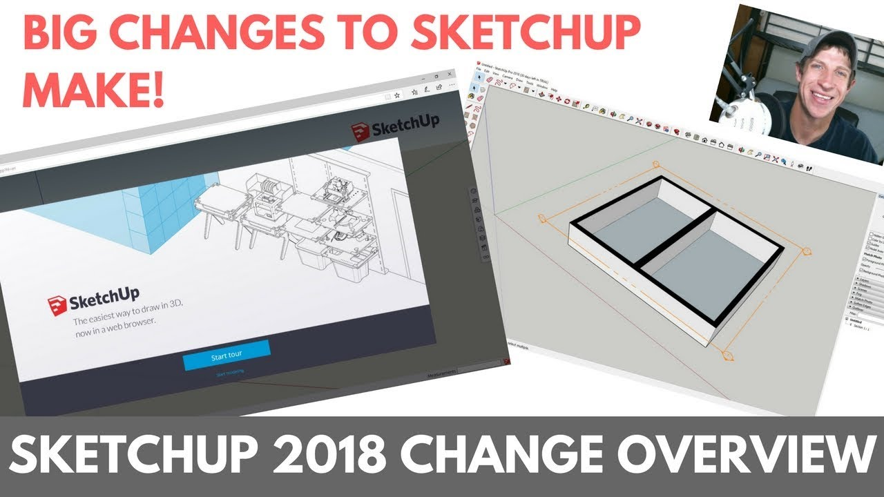What's New in SketchUp 2018? Changing the Free Version, Sectioning Tools   Layout Changes, and More!