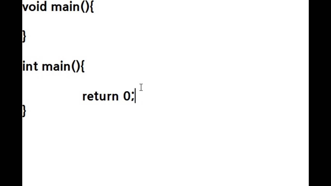 what is the use of void main in c programming