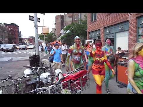 2017 NYC Bodypainting Day | March through the Streets of Greenwich Village | All Models