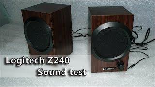 Logitech Z240 speaker test тест колонок на микрофон Boya BY-M1