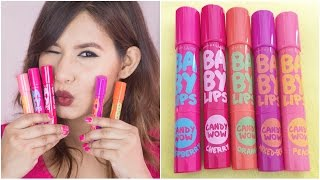 maybelline baby lips candy wow review swatches giveaway closed