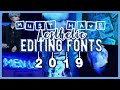 top aesthetic editing fonts 2019 ✨