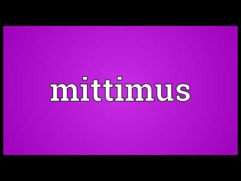 Header of mittimus