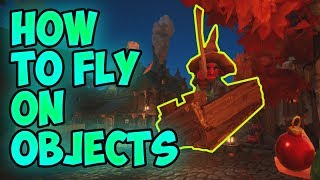 HOW TO FLY ON OBJECTS | КАК ЛЕТАТЬ НА ПРЕДМЕТАХ | WITCH IT