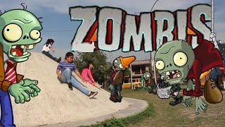 La resbaladilla de los Zombis Plantas contra Zombis