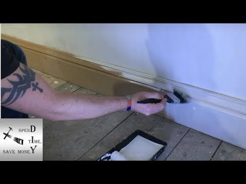 How to paint MDF skirting board / baseboard, how to fill & caulk them. Skirting board installation